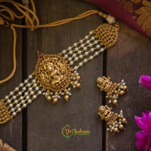 Lakshmi Pearl High Neck Choker