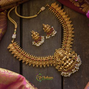 Gold look alike lakshmi choker