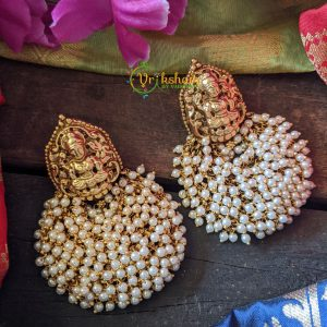 Chandbali Lakshmi Earrings Pearl 2
