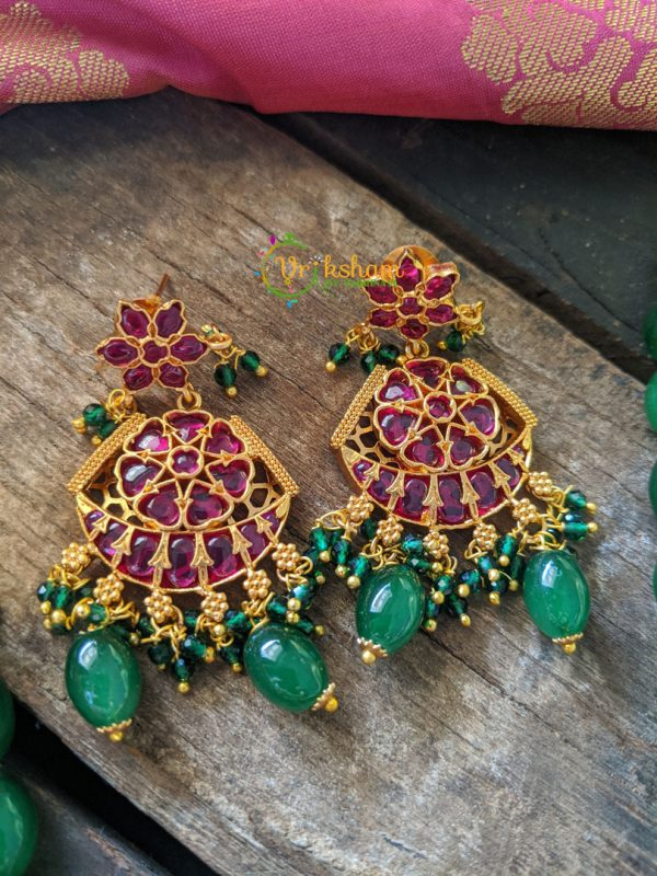 Closeup of earrings
