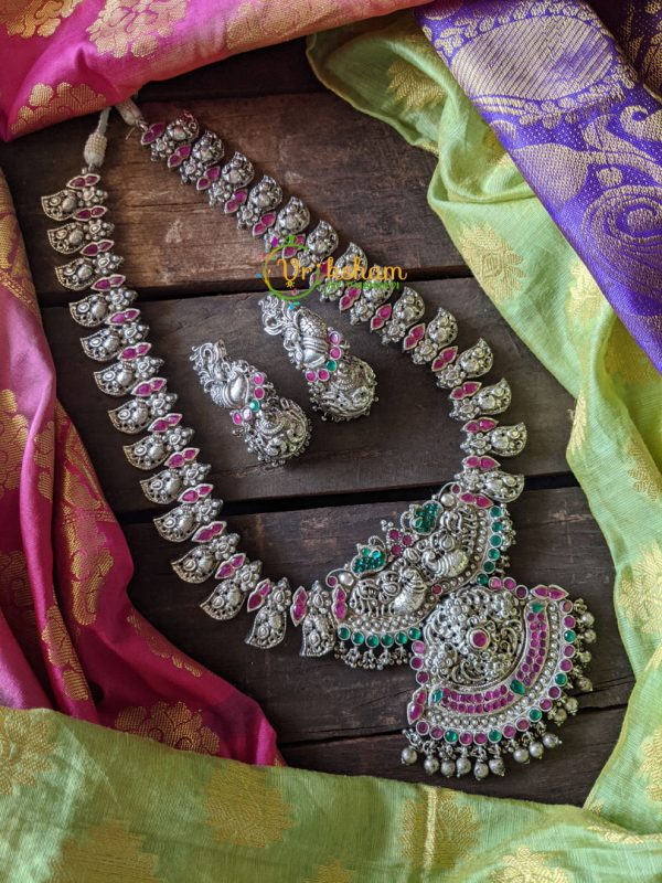 Traditional Manga silver long neckpiece