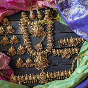 Gold lookalike Lakshmi Full Bridal Set