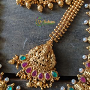 Gold lookalike Lakshmi Full Bridal - tikka