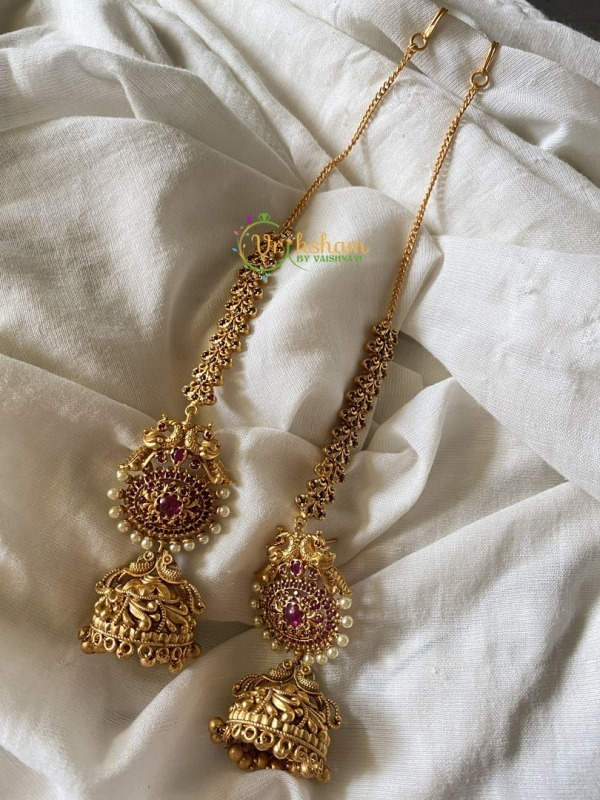 Precious Kemp earring with Ear Chain/Maatil attached
