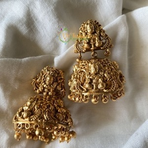 Lakshmi no stone gold look alike jhumkas