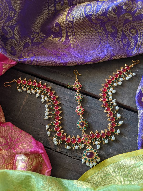 Traditional Kemp Tikka Double Side with pearls