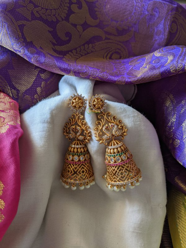 Peacock Earrings - Premium Quality